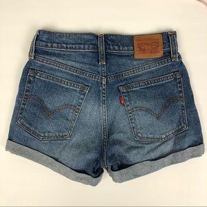 Vintage Levi's High Waist Shorts with Cuff Sz 25